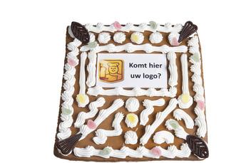 Vierkant Speculaas ongevuld met uw logo