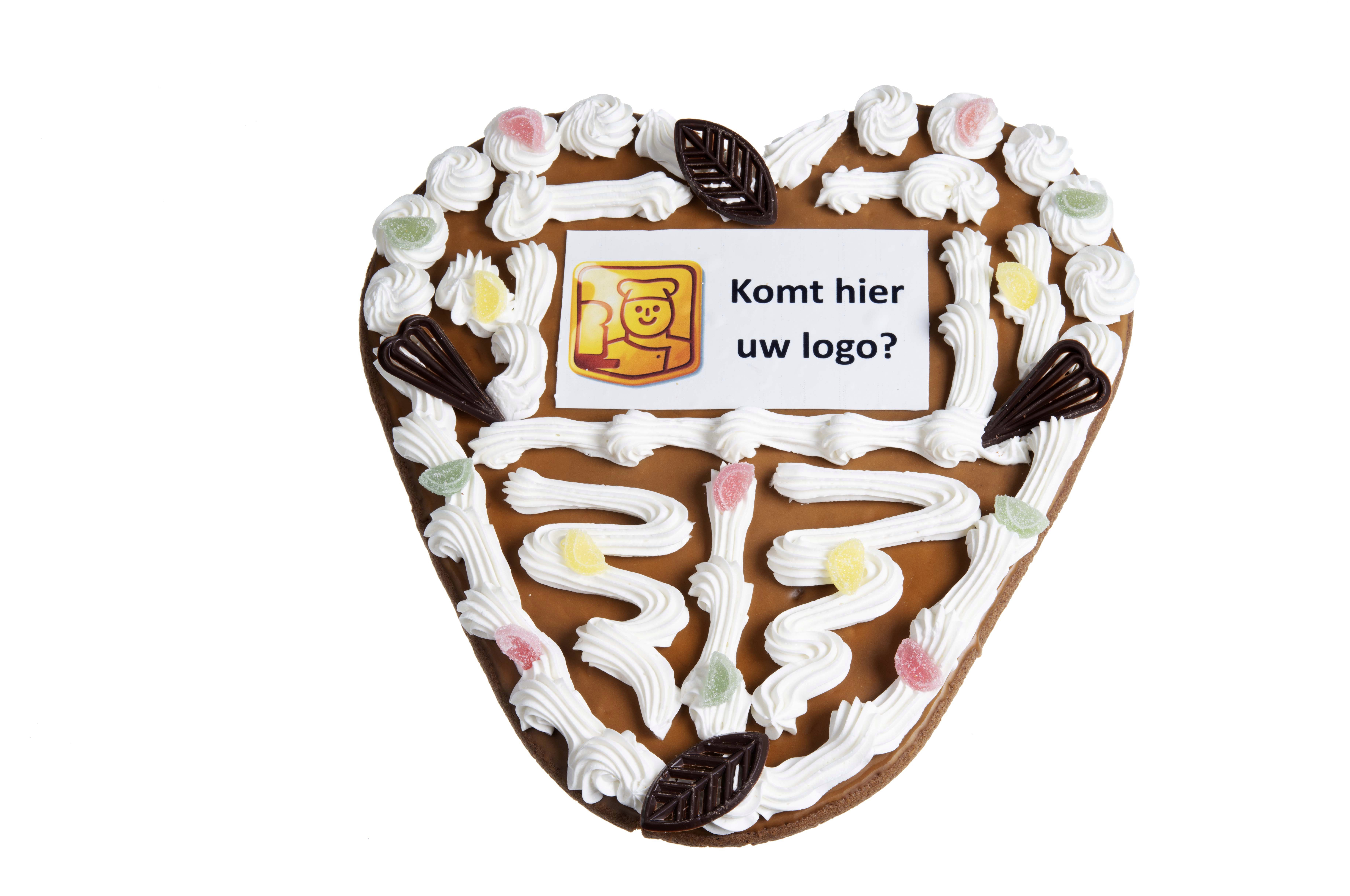 Speculaas Suikerhart met uw logo